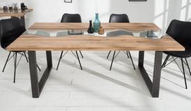 table a diner plateau bois et verre rome