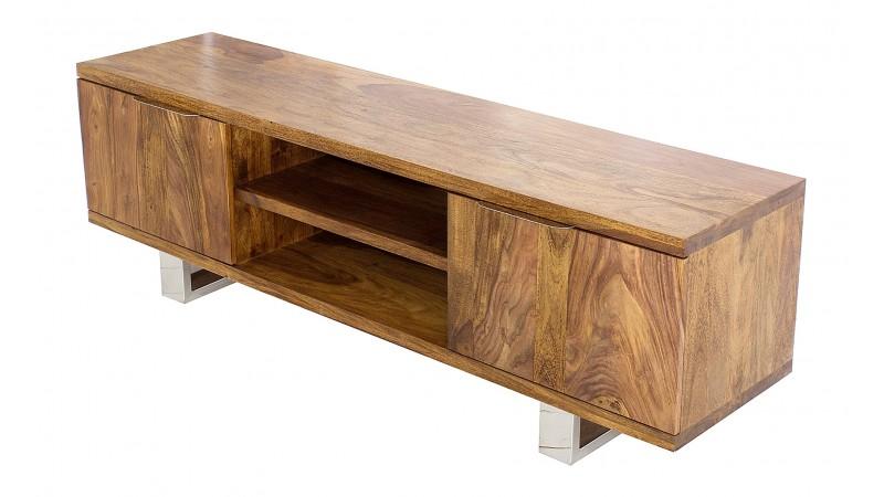 banc tv design 160 cm bois massif d