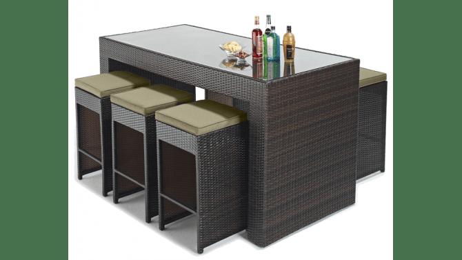 Set Dextrieur Design 6 Tabourets Table Haute Dayton