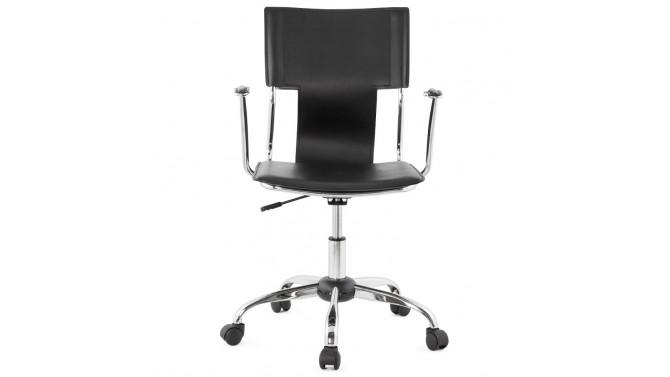chaise de bureau design en simili cuir