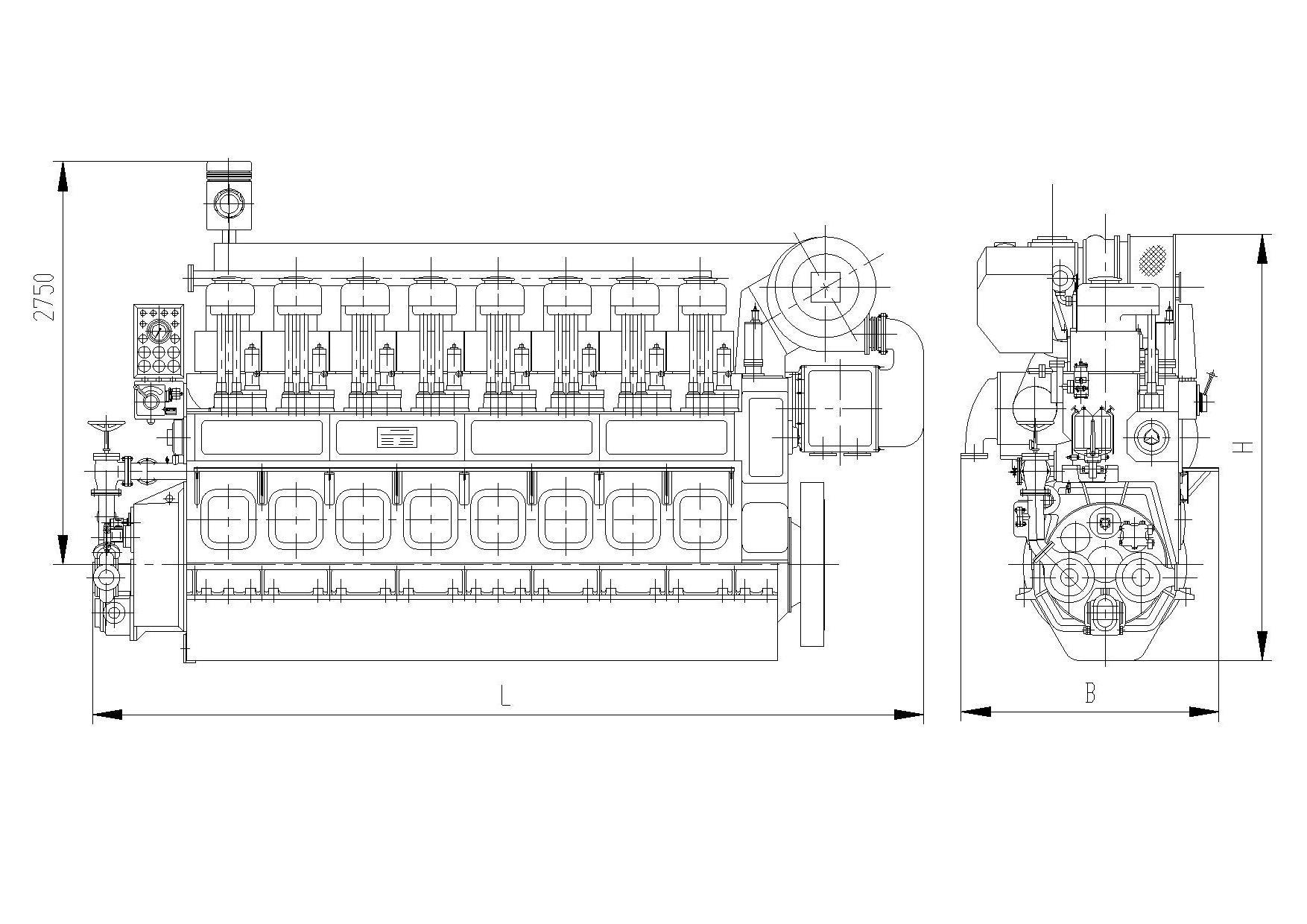 hight resolution of 8marine main engine