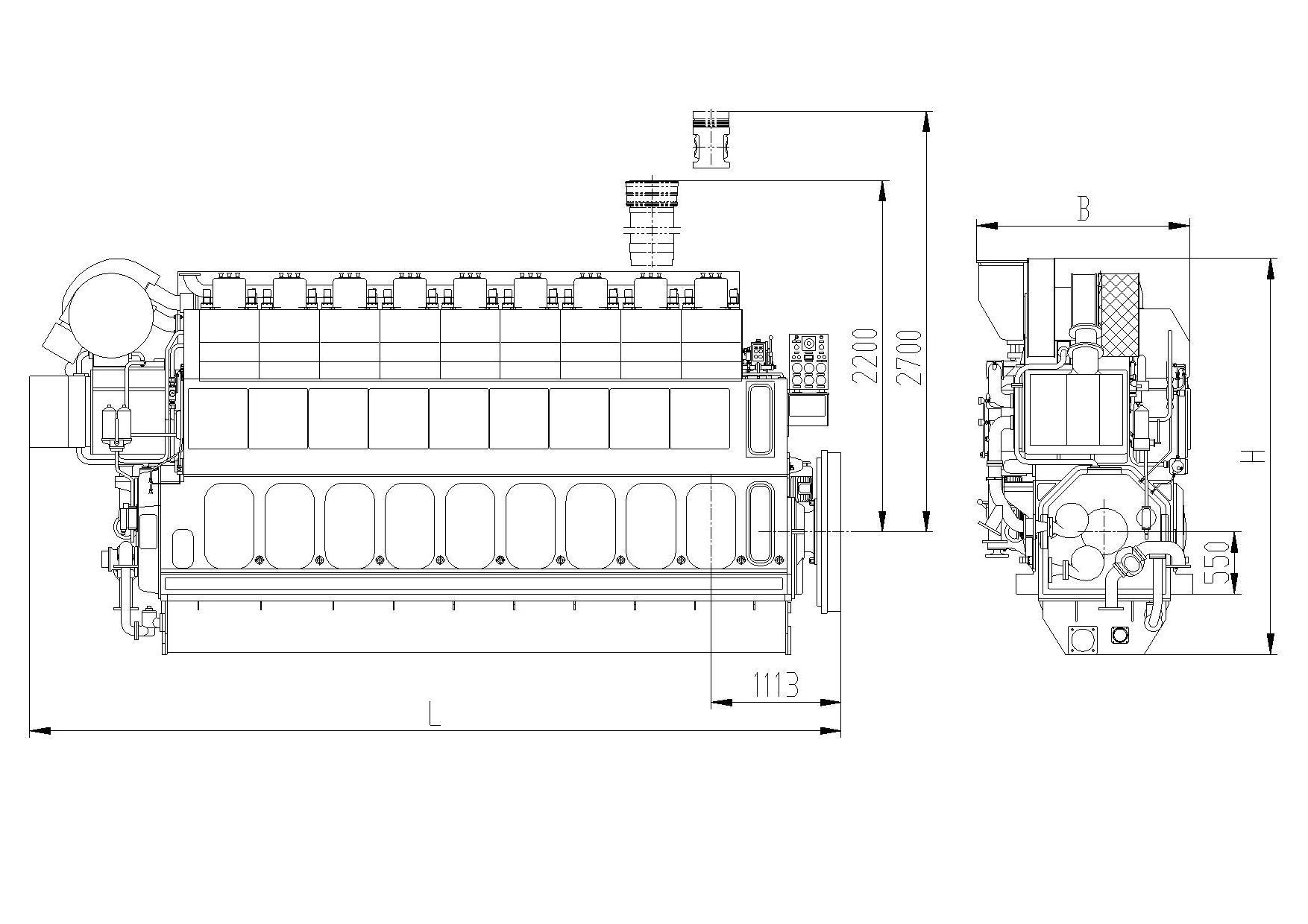 hight resolution of 9marine main engine