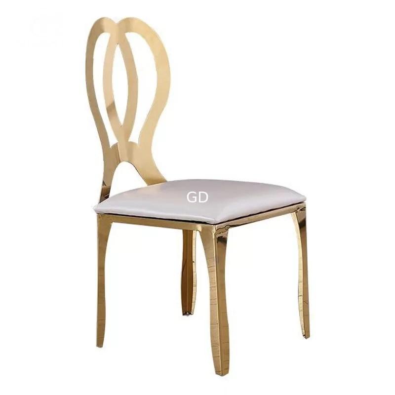 steel chair gold diy adirondack ana white wedding stainless rose dining mordern luxury