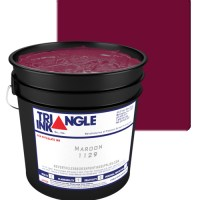 Triangle Ink Maroon by GDM Graphics