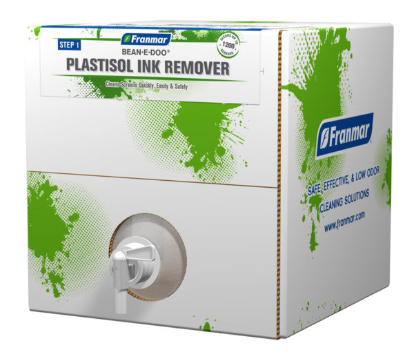Franmar Bean-e-Doo Plastisol Ink Remover available at GDM Graphics