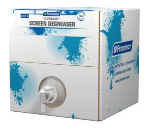 Franmar 5-Gallon D-Grease Screen Degreaser available at GDM Graphics
