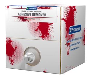 Franmar 5-Gallon Ickee-Stickee Unstuck Adhesive Remover available at GDM Graphics