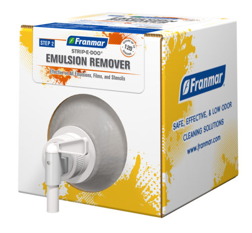 Strip-e-Doo Emulsion Remover available at GDM Graphics