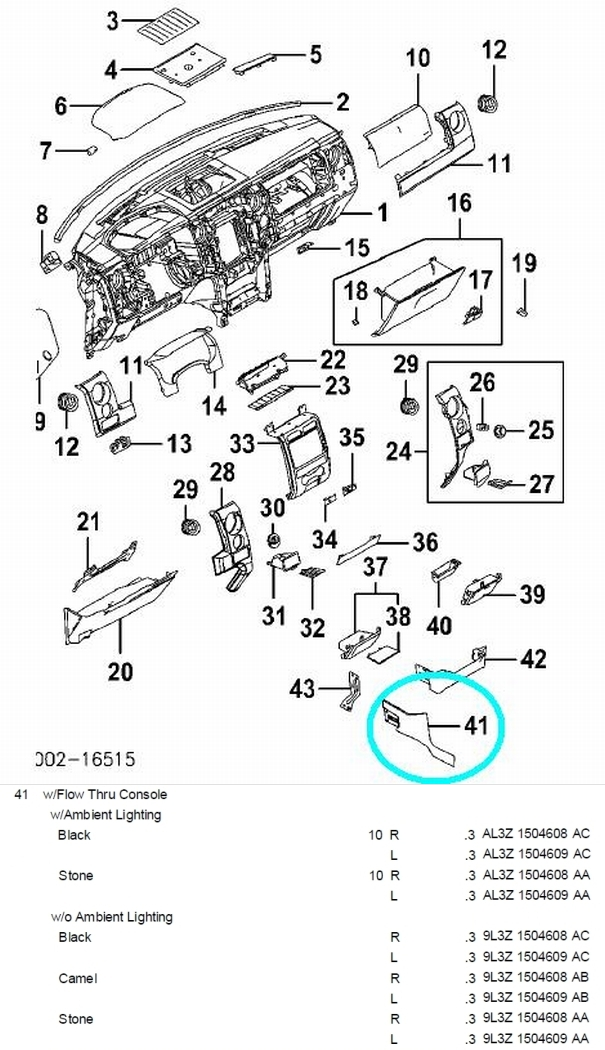 2005 Ford F150 Interior Parts Diagram