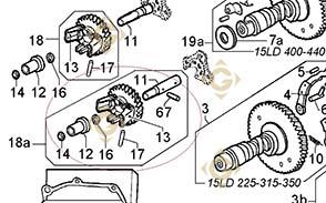 Regulator Group 4896435 engine LOMBARDINI 15LD 440/ KD440