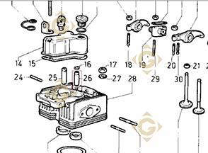Valve Guide 4845248 engine LOMBARDINI 9LD 625/ KD625-2