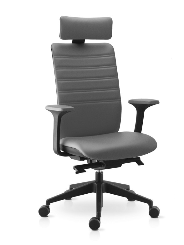 Fauteuil Direction Cuir Gris SK WIMAX 1718 G Gd Office