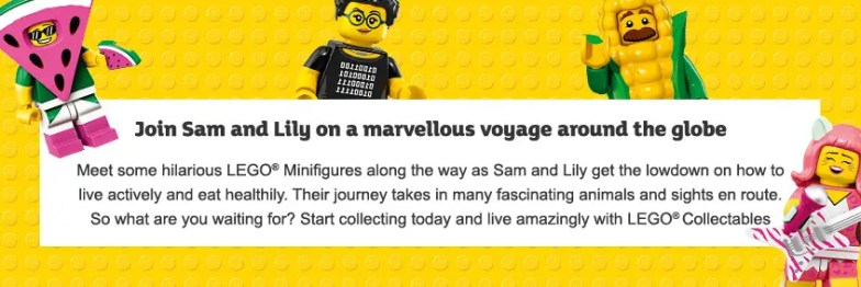 sainsbury's lego banner