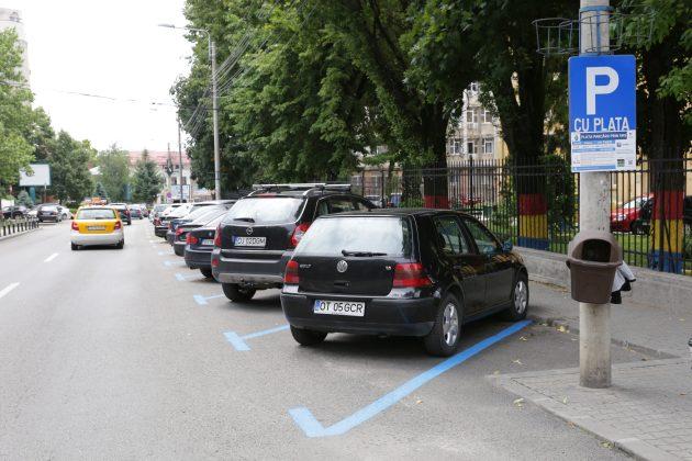 Parcările cu plată de pe strada Ion Maiorescu