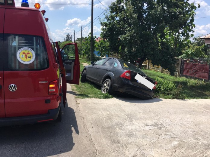 Victima a fost transportată la spital