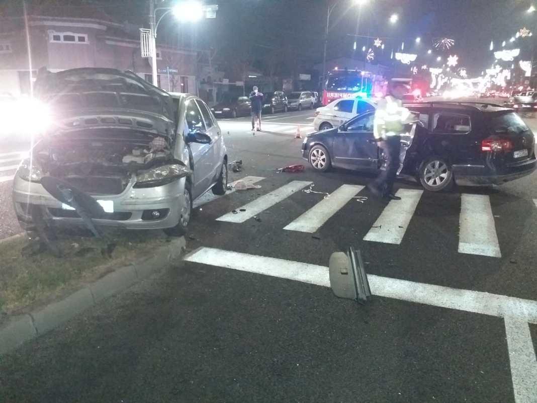 Patru persoane au fost rănite, în această seară, în urma unui accident rutier petrecut în Drobeta Turnu Severin