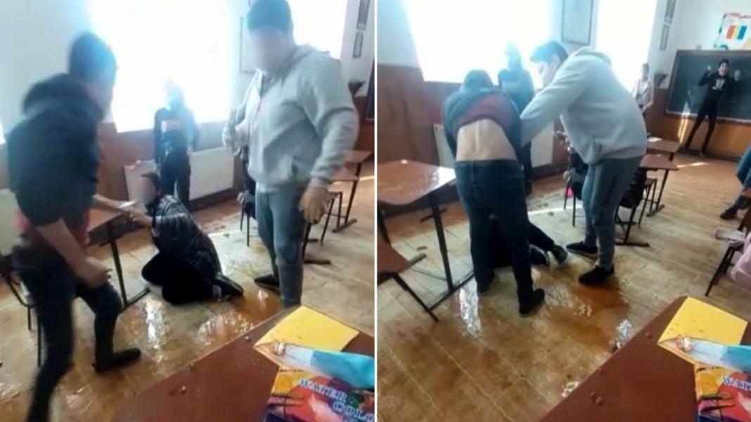 Anchetă la o şcoală, după ce un băiat a bătut o fată, iar colegii au aplaudat (sursa foto: antena3)