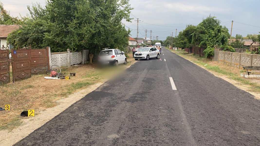 Un biciclist, accidentat în comuna Drăgoești, transportat inconștient la spital