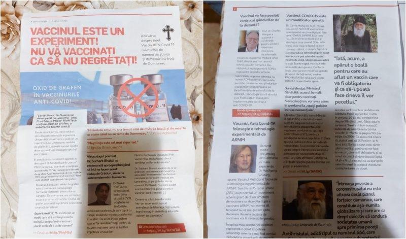 O broșură de opt pagini, care conține știri anti-COVID