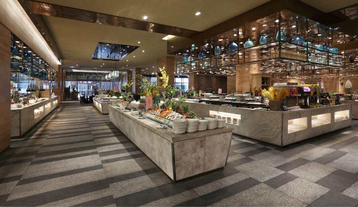 中山食全食美自助餐廳_珠海市上林裝飾設計有限公司