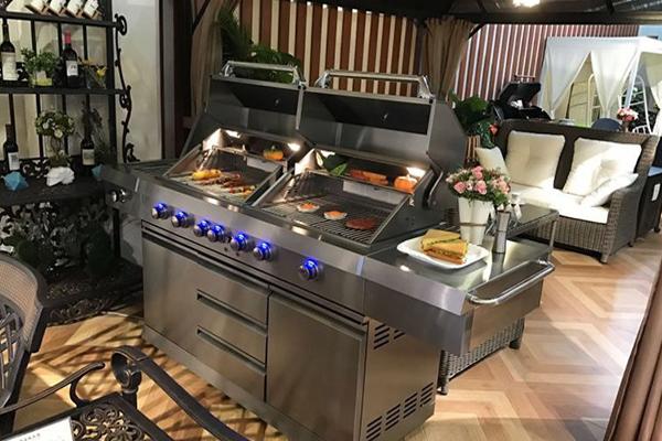outdoor kitchen rustic hardware 户外厨房烧烤炉案例 广东胜堡实业有限公司