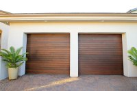 Roll up wood garage doors
