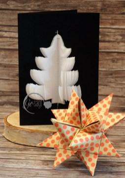 weihnachtskarte Tannenbaum mit stern logo