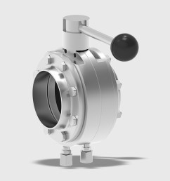 t smart 9 butterfly valve intermediate flange variant with manual actuator [ 1200 x 675 Pixel ]