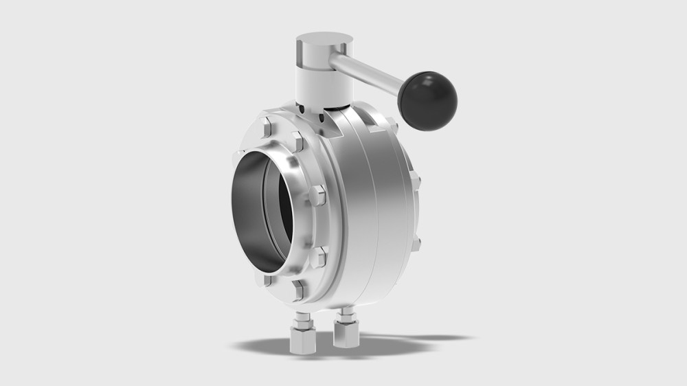 medium resolution of t smart 9 butterfly valve intermediate flange variant with manual actuator