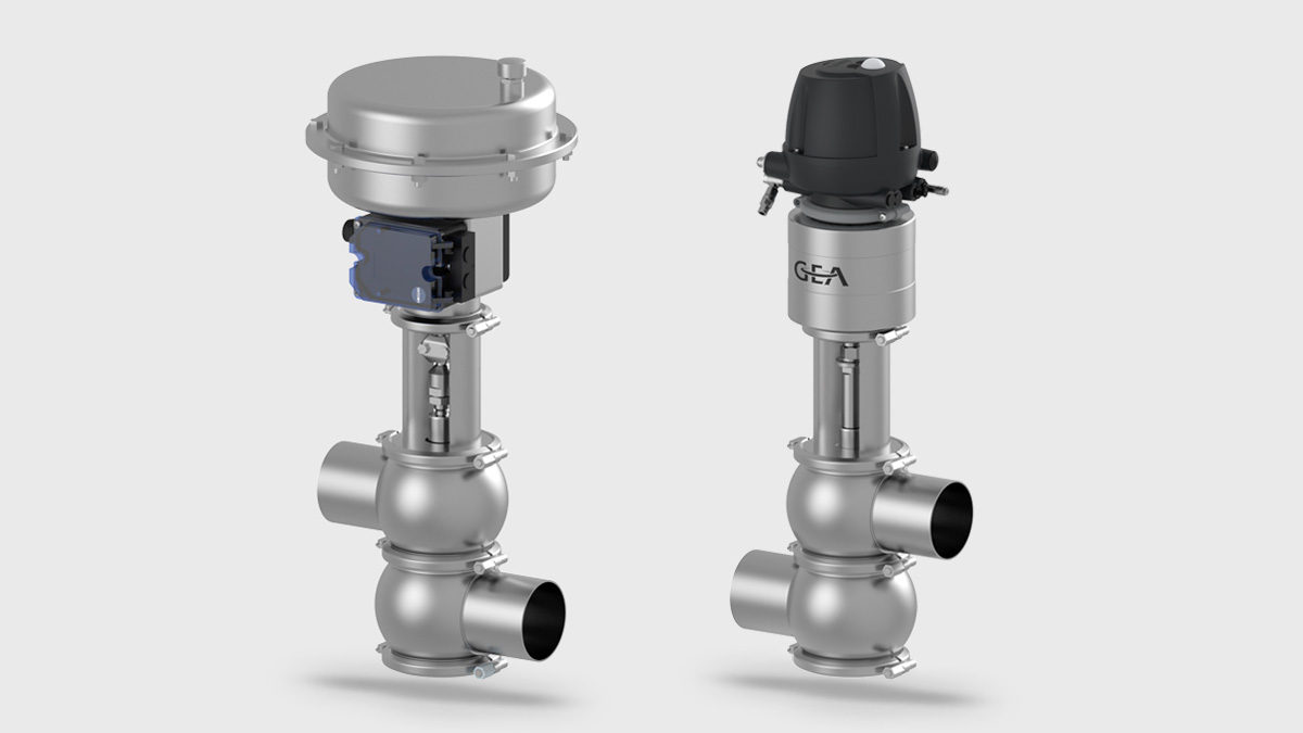 hight resolution of varivent control valves type s and type p set the flow rate by changing the pressure loss