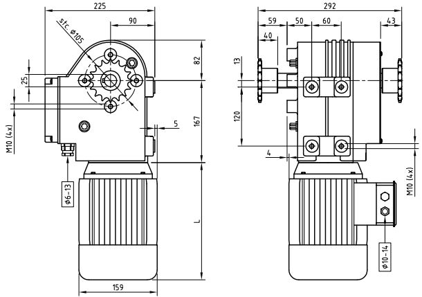 China Motor Gearboxes For Hoisting Systems Of Greenhouse