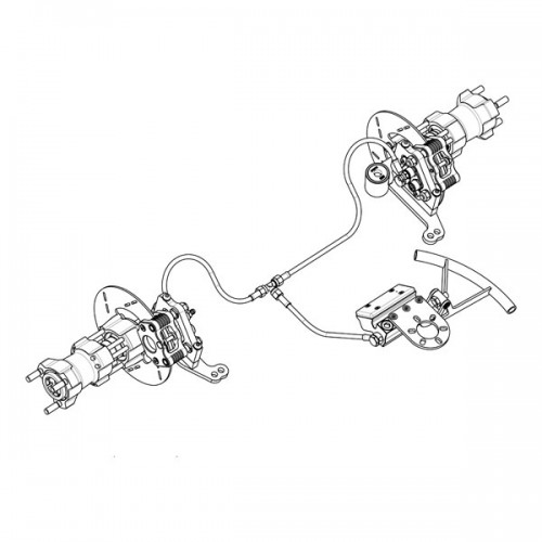COMPLETE FRONT BRAKE SYSTEM 2x2/ SPEED WH BLUE