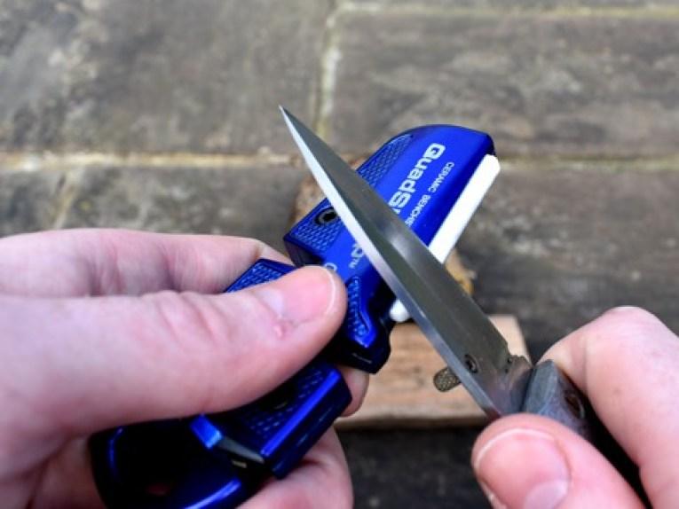 Lanksy QuadSharp Review Knife Sharpener