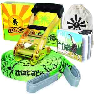 Macaco Slackline 16 Metre and Booklet
