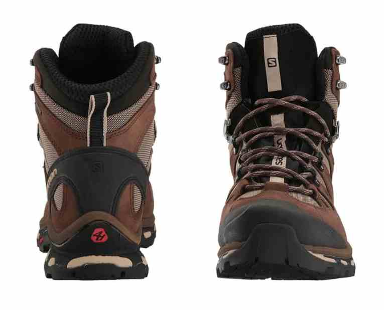 Salomon Quest 4D 2 Review GTX Boots front and back