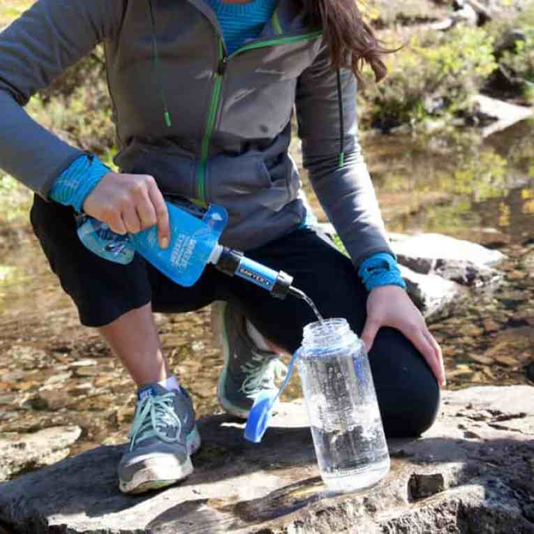 How to reduce pack weight with a water filter