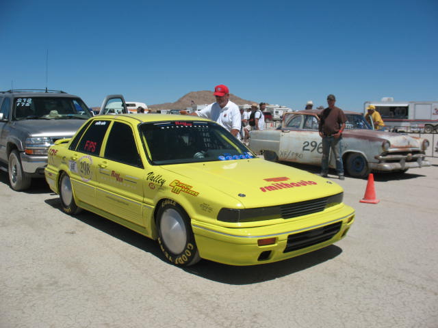 Staging the car at El Mirage