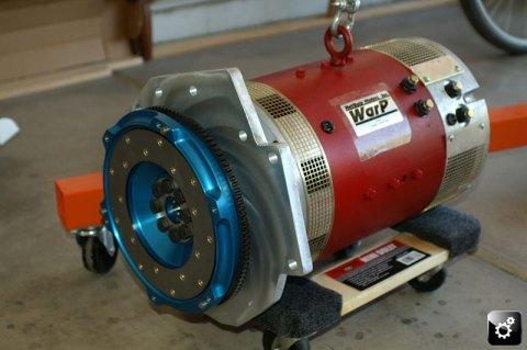 Motor, Adaptor plate and flywheel