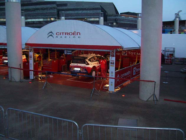 Team Citroen at Wales Rally GB