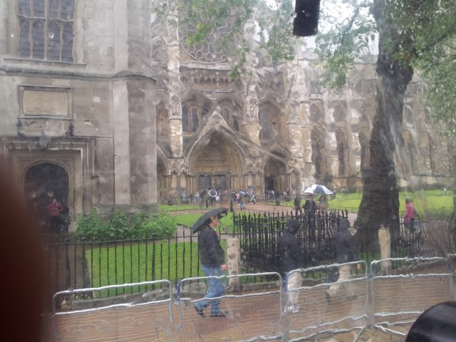 Westminster Abbey (through wet, plastic windows)