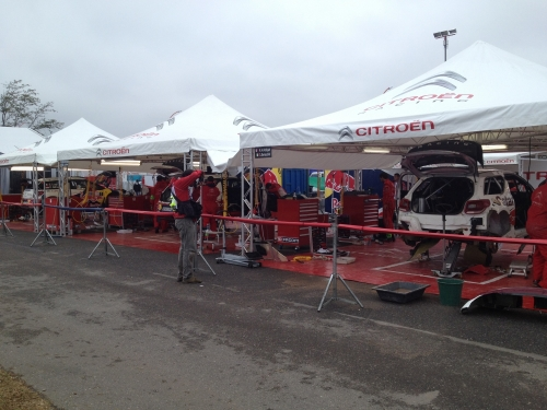 Rally Argentina service park 2012.
