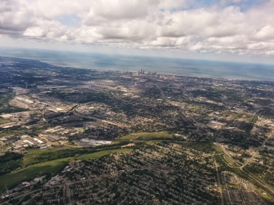 final approach into cleveland