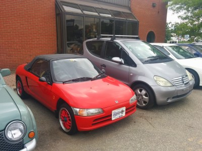 jdm honda beat edm mercedes a-class at right drive