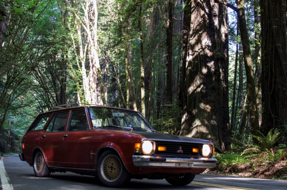 Galant Wagon in the redwoods
