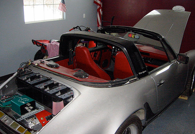 Here's an electric 911.