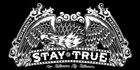 Stay True 1 color Tablecloth Graphic for use at conventions