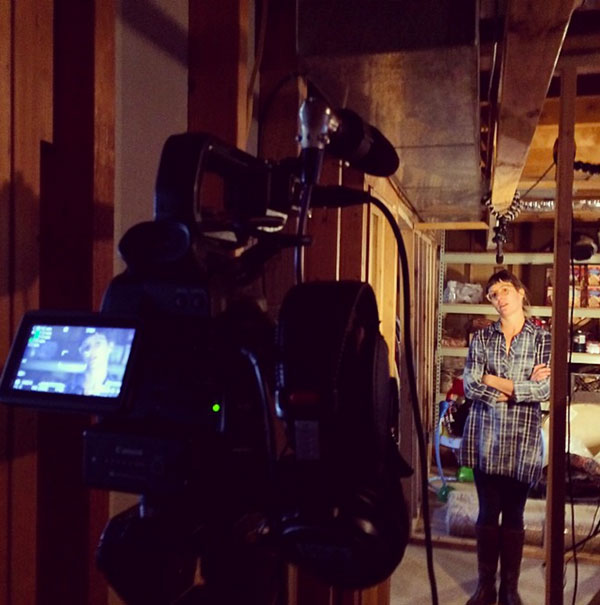corporate video production shooting in a basement