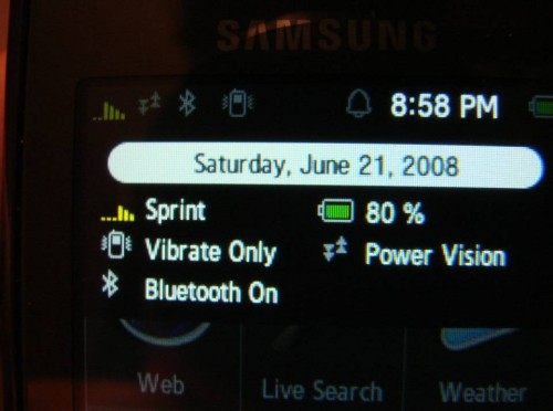 Unboxing the Sprint Samsung Instinct