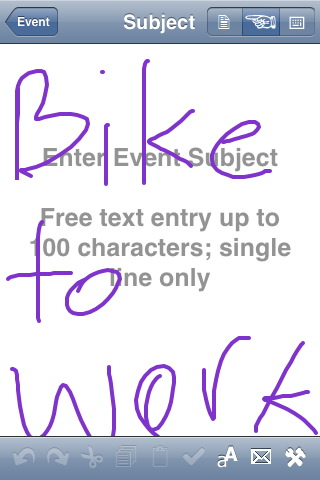 Events handwriting recognition