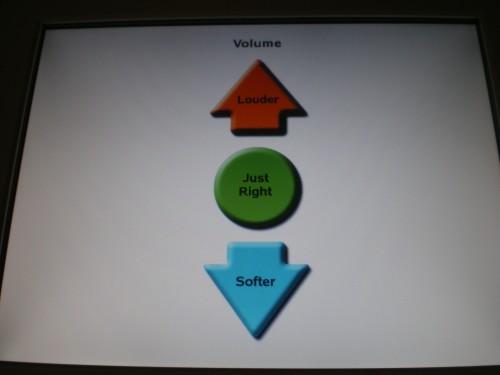 Volume control (onscreen method)
